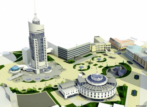 Житомир. Площадь Королева в будущем - макет